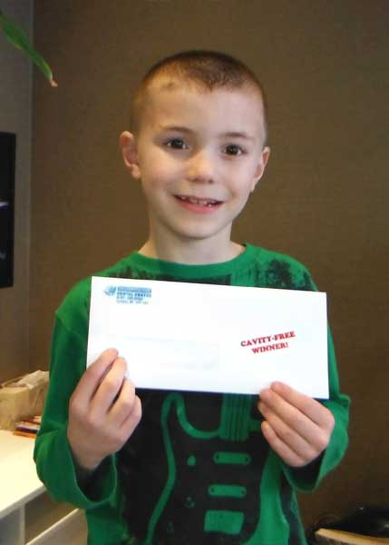 Cayden Cavity Free Club Winner