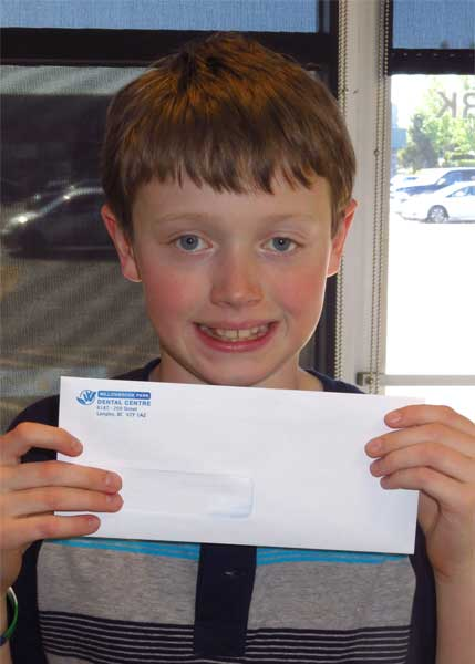 Devin Cavity Free Club Winner